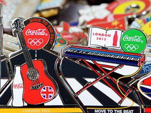 Coca-Cola London 2012 Pin Badges
